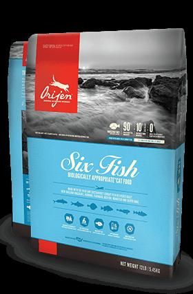 ORIJEN Six Fish Biologically Appropriate Cat Food Bag