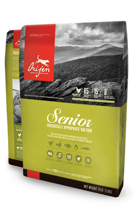 ORIJEN Senior Biologically Appropriate Dog Food Bag